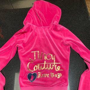 Pink juicy couture velour zip up